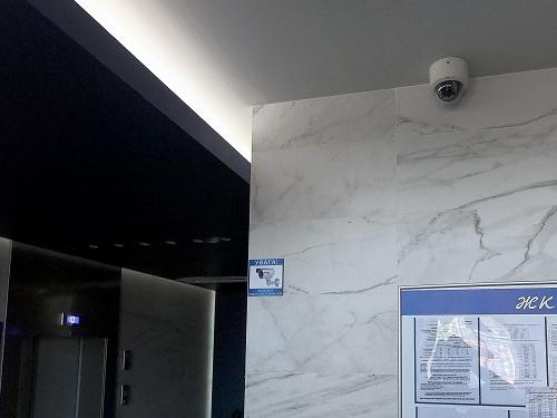 Фото установка видеонаблюдения в ЖК
