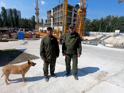 Охорона будмайданчиків в Києві, охоронці на об'єкті